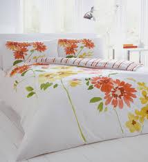 Blue And Yellow Duvet Cover Vervain Citrus Floral Bedding Set Duvet Cover Pillowcases Orange