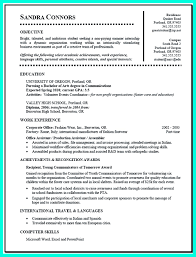 student resume exle current college student resume is designed for fresh graduate