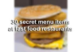 secret menu items to order on national fast food day in san