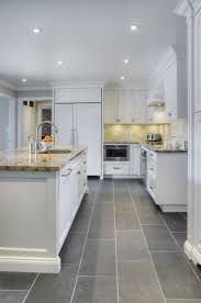 Kitchen Floor Tile Ideas by Gorgeous Modern Kitchen Flooring Tile Alluring Sleek White Ceramic