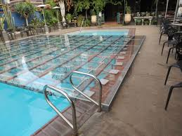 outdoor floor rental platform pool covers by all safe this place does