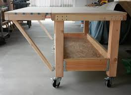 Rolling Work Bench Plans Diy Ultimate Workbench Table Saw And Outfeed Chop Saw Well