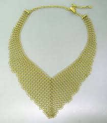 bib necklace gold images Diane von furstenberg for h stern diamond gold mesh bib necklace jpeg