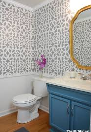 Ideas For Painting Bathroom Walls Before After A Colorful Small Gray Bathroom With A Wall Stencil