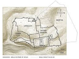 free bible images maps showing topography of jerusalem and key