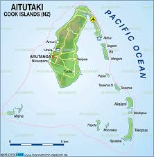 where is cook islands located on the world map map of aitutaki cook islands new zealand map in the atlas of