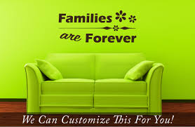 families are forever a wall decor vinyl lettering words decal quick view