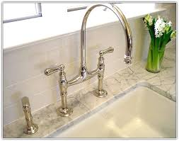 polished nickel kitchen faucets bridge style kitchen faucets home design ideas