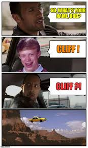 Meme Generator Custom - bad luck brian disaster taxi runs over cliff meme generator imgflip
