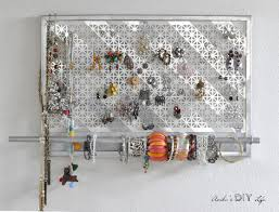 necklace organizer display images Diy jewelry organizer easy way to display jewelry on the wall jpg