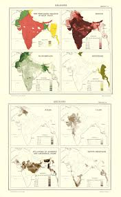 World Religions Map Religions In British India 1895 Map India Religion Maps Of