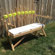 hand crafted softball bat bench by rocky mountain woodworks