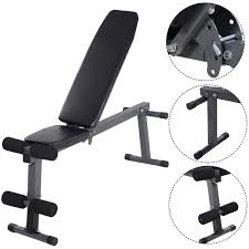 gracelove adjustable folding sit up ab incline abs bench flat fly
