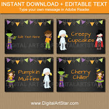 printable halloween candy buffet labels halloween chalkboard