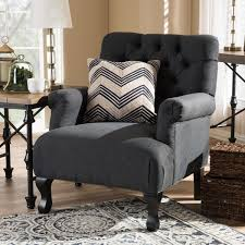 linen club chair joussard gray linen club chair free shipping today overstock