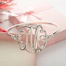 monogram initial bracelet monogram initial script bracelet florence scovel