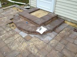 Installing A Patio With Pavers Patio Pavers Last Step Is To Build Steps B I M Built It