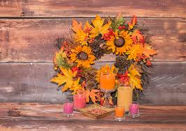 creating fall decor with sparklefly candles and a recycled autumn