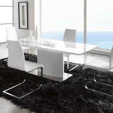 White Dining Table With Black Chairs Dining Room Modern Dining Tables To Complete Your Dining Room
