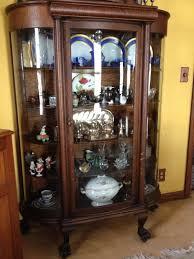 antique china cabinets for sale antique china cabinet with three round glass panels and claw feet