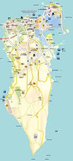 map in road maps of bahrain detailed map of bahrain in tourist map