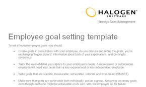 employee goal setting template download toolkit