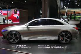 luxury mercedes sedan mercedes benz concept a sedan previews production model due in 2018