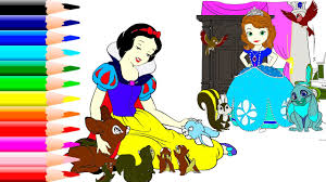 snow white coloring book coloring book snow white with wild animals and her friends peppa