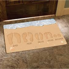 personalized sandy footprints doormat 17