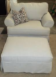 chair and ottoman slipcover ottoman excellent oversized chairs pics design ideas chair and half
