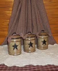 primitive kitchen canister sets primitive canister set ceramic crackle black farmhouse
