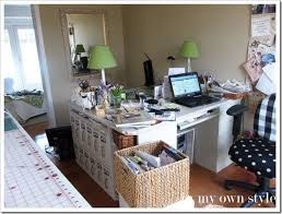 Office Desk Arrangement Home Office No Cost Decorating Switcheroo In My Own Style