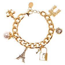 charm bracelet pearl images Gold paris charm bracelet claire 39 s us jpg