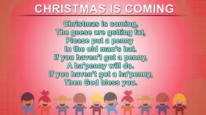 christmas is coming kids poem english nursery rhymes songs