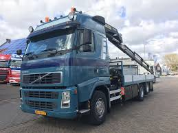 volvo fh12 4 manual gearbox with palfinger crane flatbed trucks