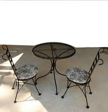vintage plantation patterns wrought iron patio table and chairs ebth