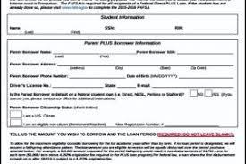 simple parent plus loan application form templatezet