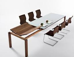 extension dining room table from team 7 the magnum modern dining