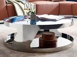glastische wohnzimmer couchtisch chrom rund silber kairo glastisch wohnzimmer beistell