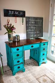Chalk Paint Desk by I Get So Many Compliments On This Turquoise Color Milk Paint It U0027s