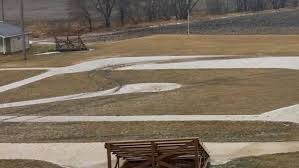 by by field of dreams baseball field in iowa damaged by vandal facing