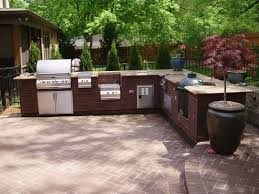 kitchen design l shape outdoor kitchen with canopy and fireplace