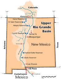 Map Of Rio Grande River Integrated Economic Hydrologic And Institutional Analysis Of