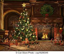 a very merry christmas 3d cg graphics of a living room on