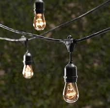 Clear Patio String Lights Vintage Patio String Lights W Clear Glass Edison Bulbs