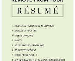 crafty ideas things to put on a resume 12 9 things remove from