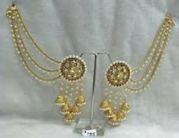 bridal jhumka earrings women gold plated indian fashion party ethnic bridal