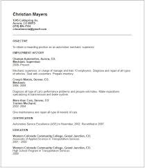 Resume Example Templates by Resume Examples Templates Mechanic Resume Objective Free Resume