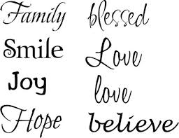 inspirational words multi fonts wall decals trading phrases