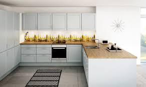 cuisine plan de travail bois cuisine blanche plan de travail bois